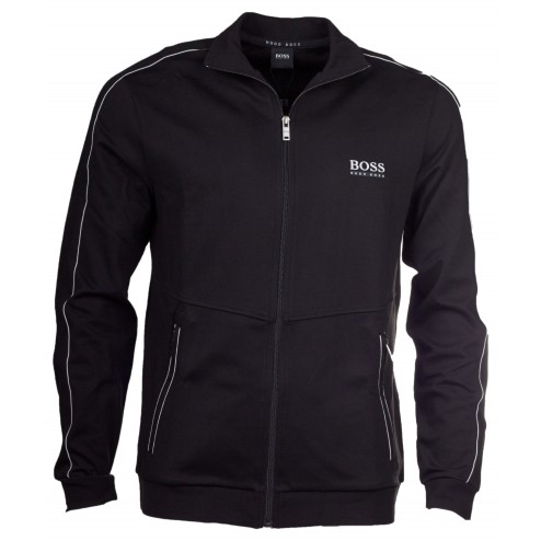 BOSS Sweatshirt-Jacke aus Baumwoll-Mix: 'Jacket Zip' by Hugo Boss