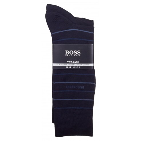 BOSS Twopack Fine Stripe 2er Pack Socken