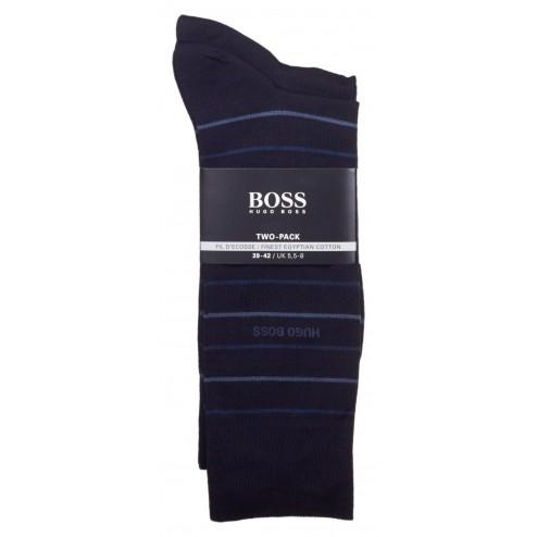 BOSS Twopack Fine Stripe 2er Pack Socken