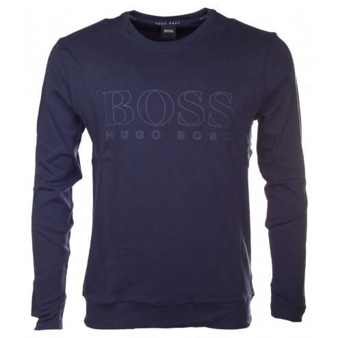 BOSS Sweatshirt aus Baumwolle mit Logo-Print