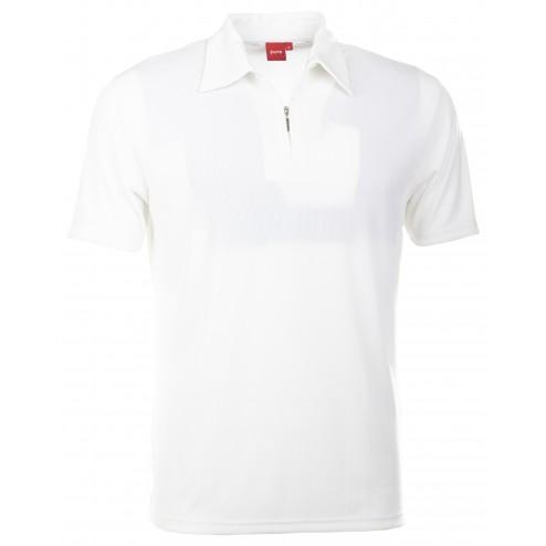 Pure Polo-Shirt mit hochwertigen Zip-Verschluss