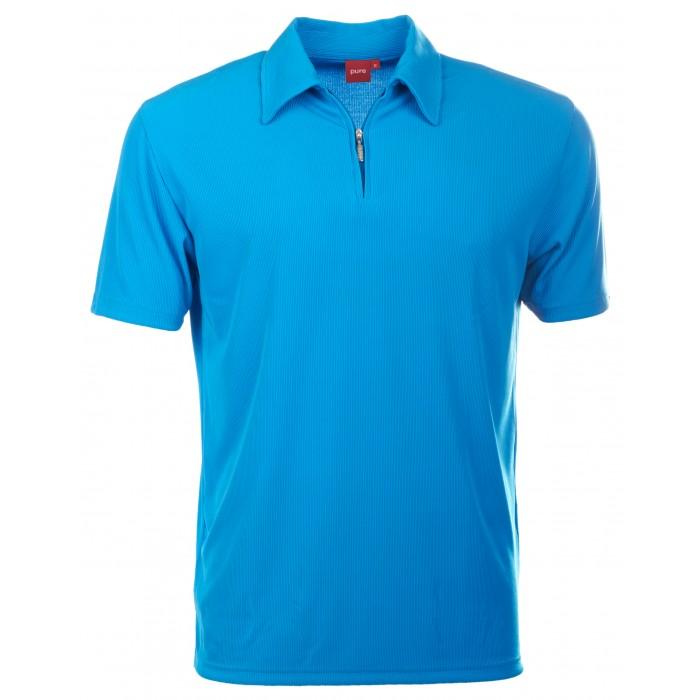 pure polo shirt mit hochwertigen zip verschluss styling news. Black Bedroom Furniture Sets. Home Design Ideas