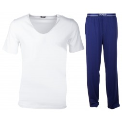 BOSS Jersey-Schlafanzug/Homewear Zweiteiler Pant mit Shirt BM