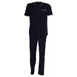 BOSS Schlafanzug Jersy Longpant mit Shirt (Set)